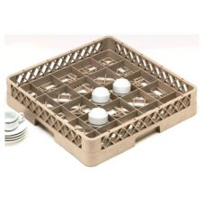 Traex® TR16A 25 Compartment 1 Open Extender Beige Cup Rack