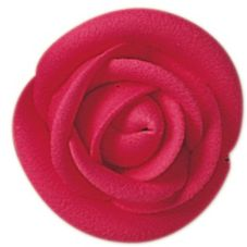 "Lucks™ 1.75"" Large Bright Red Rose"