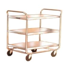 Lakeside 493 S/S 500 lb Capacity 3-Shelf Chrome Plated Utility Cart