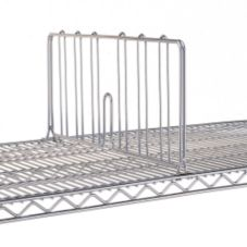 "Advance Tabco SD-24 Chrome 24"" x 8"" Shelf Divider"