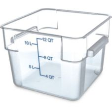 Carlisle 1072407 StorPlus 12 Qt. Square Clear Food Storage Container