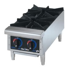 "Star® 602HF Star-Max® Gas 2-Burner 12"" Hot Plate"