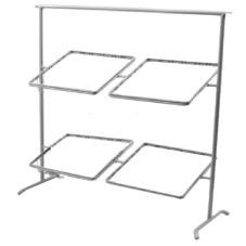 Dover European Metalworks Nickel Chrome Plated Quad Pane' Stand