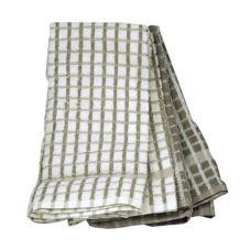 """Ritz® 101-00 White / Taupe 16"""" x 26"""" Kitchen Towel - 4 / PK"""