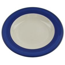 "Homer Laughlin China 0380-1960 Valencia Blue 11"" Pasta Bowl - 12 / CS"