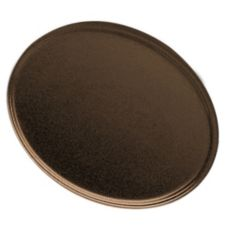 "Cambro® Brazil Brown 22"" x 26-7/8"" Oval Camtray®"