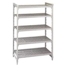 "Cambro CSU54488PKG480 Camshelving 24 x 48 x 84""  5-Shelf Starter Unit"