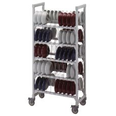 "Cambro CSDDCPKG480 Gray 36"" x 18"" x 75"" Dome Camshelving Drying Cart"