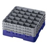 "Cambro 25S738186 Camrack Navy Blue 7-3/4"" High Full Size Glass Rack"