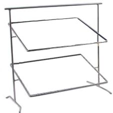 "Dover European Metalwork D-875N Nickel Chrome 27""H Grande Pane Stand"