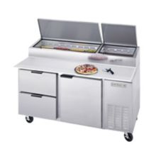 "Beverage-Air 67"" Pizza Top Refrigerated Counter with 2 Drawers"