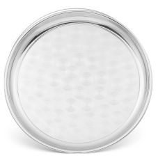 Walco Venus™ Round Stainless Steel Serving Tray, 18""