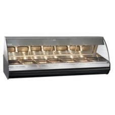 Alto-Shaam HN2-96-BLK Halo Heat Self-Serve Two-Door Deli Display Case