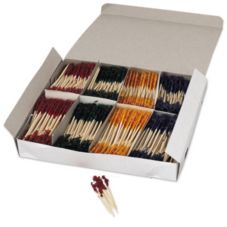 "Cellucap® RF R811W Frilled 3"" Toothpicks - 100 / BX"