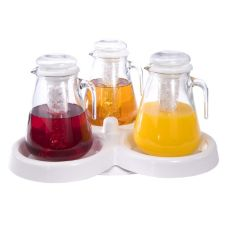 Gourmet Display® 3 Glass Pitcher Rotating Server