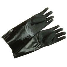 """Ritz GLN27BK Black 17"""" Elbow Length Neoprene Cleaning Gloves - Pair"""