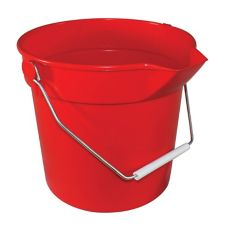 Impact® 10 Qt. Red Deluxe Heavy-Duty Bucket