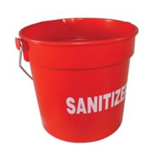 Impact® 10 Qt. Red Bucket with Sanitizer Imprint