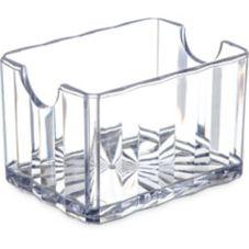 Carlisle® 454907 Crystalite® Clear Sugar Caddy - Dozen