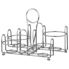 Traex® WR-1000R Large Chrome Plated Dripcut® Condiment Caddy