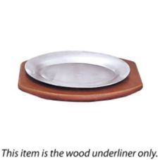 "Adcraft® 13-1/2"" x 9-1/2"" Steak Platter Wood Underliner"