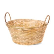 "Willow Specialties 8800.12 12"" x 9-1/2"" Bamboo Basket With Handles"