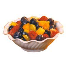 Gessner™ 0346 BONE White SAN Plastic 5 Oz. Berry Dish - 24 / CS