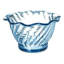 Carlisle® 453054 5 Oz. Ice Blue Tulip Dessert Dish - 24 / CS