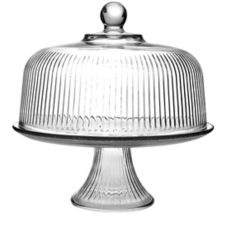 Anchor Hocking 86031L6 Monaco Glass Cake Stand & Cover Set