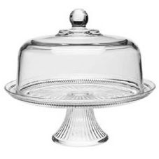 Anchor Hocking Canton Glass Cake Stand & Cover Set