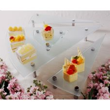 Isinglass Triangle Frosted Glass 4-Piece Riser Set