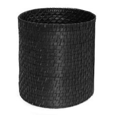 "Front Of The House® Black Rattan 9"" Round Riser"