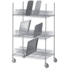 Channel Mfg. W3TD-3 Tray Drying Rack with 15 Slots per Shelf