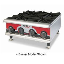 APW Wyott Champion Wide Flat Gas Hot Plate, 2 Burners, GHPW-2H