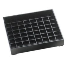 "Cal-Mil® 6"" x 6"" Black Pitcher Drip Tray"