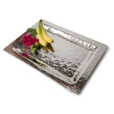 "Orion HTS109 23"" x 16"" Hammered Stainless Steel Tray"