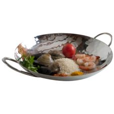 "Orion HTS127 Hammered Stainless Steel 11.5"" x 2.5"" Dish"
