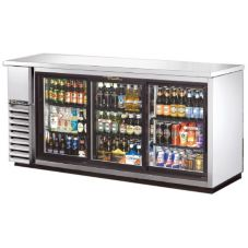 True TBB-24-72G-SD-S-LD Black Back Bar Cooler for 130 6-Packs