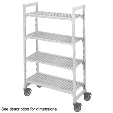 "Cambro CSUR48427480 Mobile 18"" x 42"" x 75"" 4 Shelf Starter Unit"