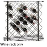 Focus Foodservice Black Epoxy 45 Bottle Capacity Wine Rack Modules