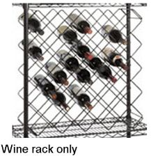 Focus Foodservice FWBR45BK Black Epoxy 45 Bottle Wine Rack Modules