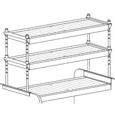 "Perlick® PTS42-3 42"" X 18"" Fixed Overshelf"
