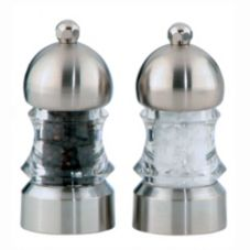 "Chef Specialties 1572 Clear 3.5"" Metro Pepper Mill/Salt Mill Set"