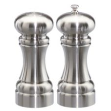 "Chef Specialties Chrome 5"" Westin Pepper Mill / Salt Shaker Set"