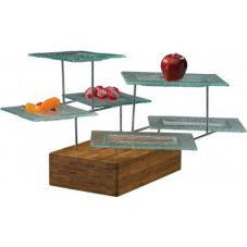 Buffet Euro WS 6000 G Rectangular Stand With Glass Platters