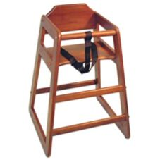 Adcraft® HCW-5 Mahogany Hardwood High Chair