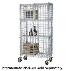 "Focus Foodservice Chromate 24 x 48 x 63"" Mobile Security Cage Kit"