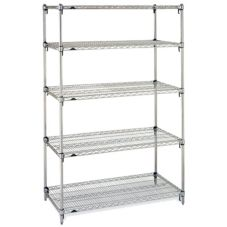 Metro 5A517C Super Adjustable Super Erecta 24 x 24 x 74 Starter Kit