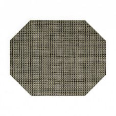 "FOH XPM058GRV83 11"" x 14"" Basketweave Placemat - 12 / CS"