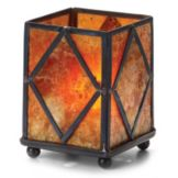 Hollowick® 1201A Mini Panel Lamp With Mica Diamond Panels